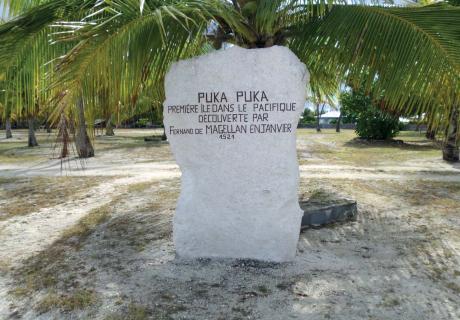Stèle de Puka Puka. © Commune de Puka Puka