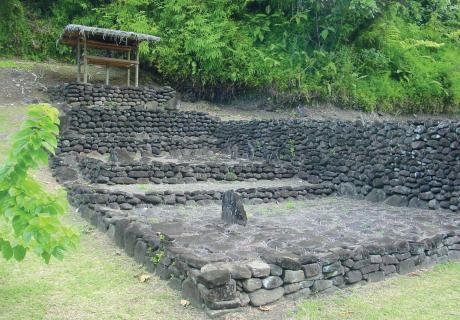 Le marae de Farehape. © Tahiti Héritage