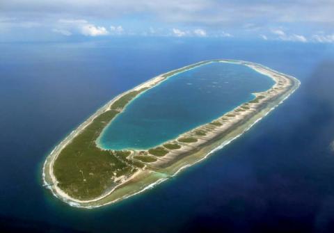 Vue aérienne de Pukarua.© Tahiti Héritage