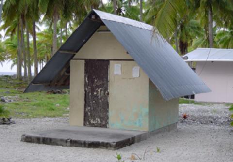Le bureau de poste de Tematangi