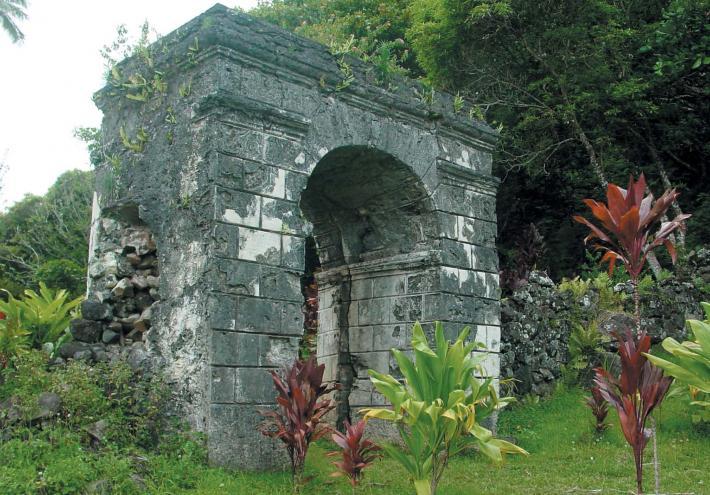 L'arche du convent de Rouru. © Tahiti Héritage