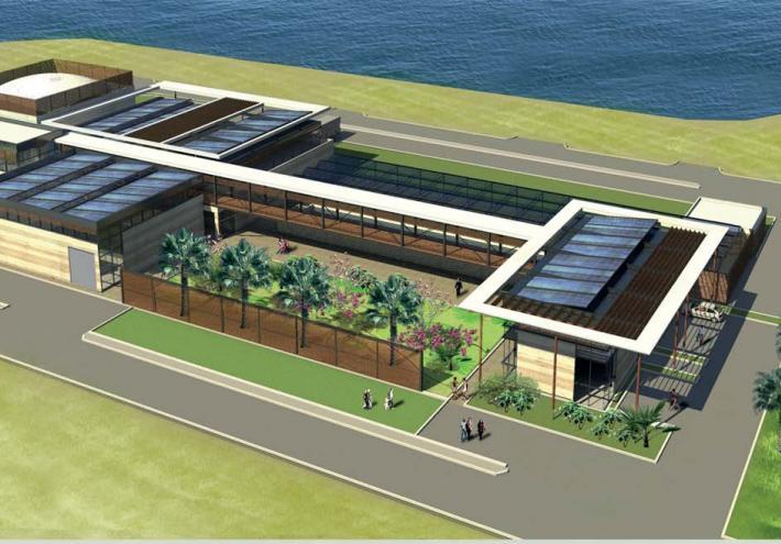 La nouvelle station d'épuration. © Commune de Papeete