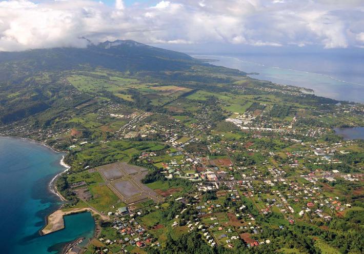 Vue aérienne d'Afaahiti. © Commune de Taiarapu-Est